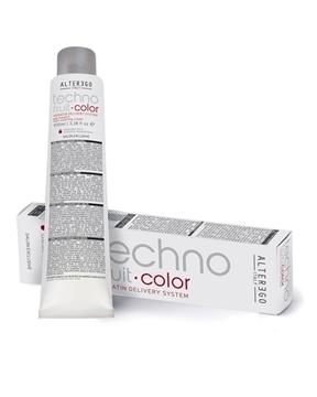 رنگ مو تکنو فرویت آلتر اگو سری رنگ خاکستری قهوه ای (alter ego italy techno fruit hair coloring cream brown ash)