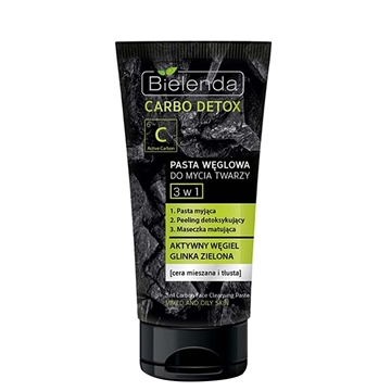Bielenda 3*1 Carbon face Cleansing Paste 150gr