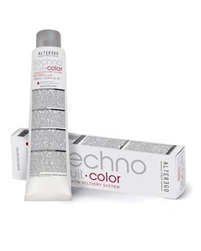 رنگ مو تکنو فرویت آلتر اگو سری رنگ مات زیتونی (alter ego italy techno fruit hair coloring cream matte)