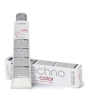 رنگ مو تکنو فرویت آلتر اگو سری رنگ قهوه ای (alter ego italy techno fruit hair coloring cream brown)