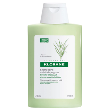 Klorane Smoothing Shampoo with Papyrus Milk 200ml