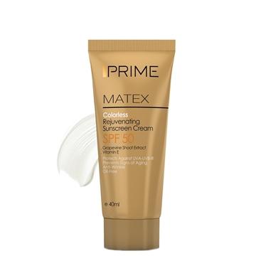 Prime Matex Colorless Rejuvenating Sunscreen Cream SPF50